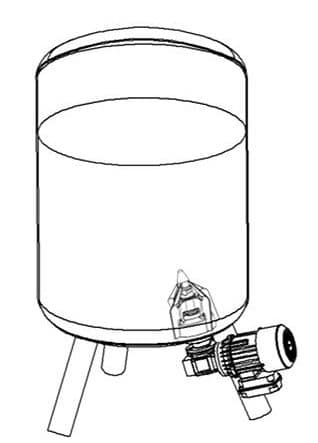 Agitador magnético acoplado en la base